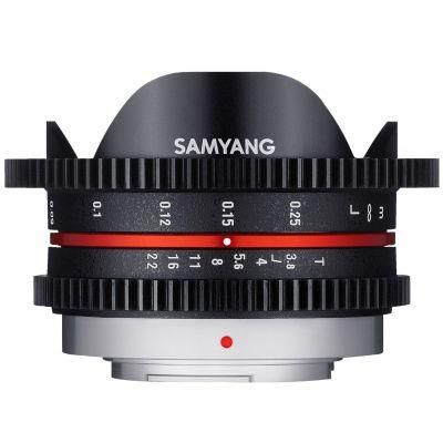 Obiettivo Samyang 7.5mm T3.8 Cine UMC Fish-eye Nero x Micro Quatto Terzi