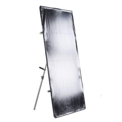 Quadralite Kit pannello riflettente bianco silver oro nero traslucido + telaio 120x200cm