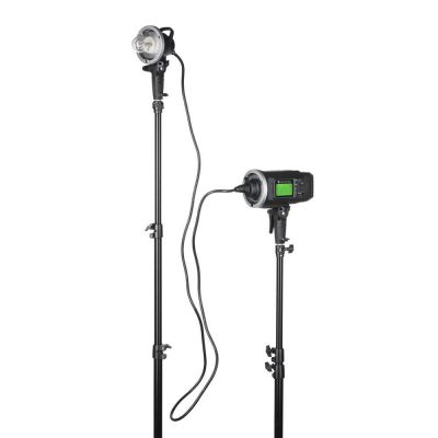Quadralite Atlas FH600 flash head asta con luce pilota
