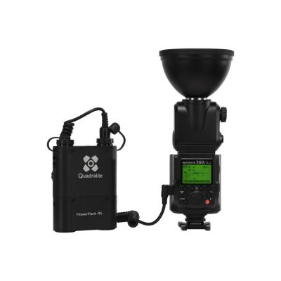 Quadralite Reporter 360 TTL per Canon Kit flash + battery pack