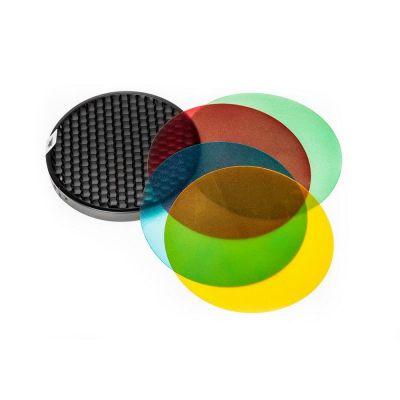 Quadralite Filtri Colorati e griglia a nido d'ape per flash Reporter
