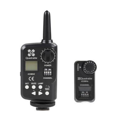 Quadralite Stroboss Navigator Kit trasmettitore + ricevitore x flash Stroboss 58C/58N