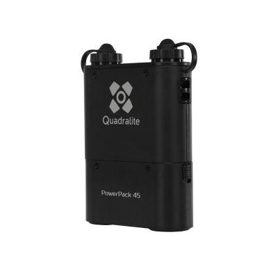 Quadralite PowerPack 45 alimentatore kit batteria esterna + caricatore + tracolla x flash Canon Sony Nikon + Reporter