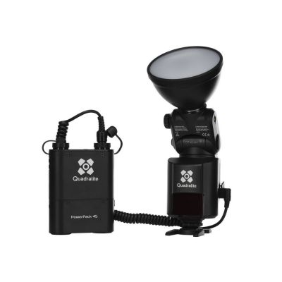 Quadralite Reporter 360 TTL per Nikon Kit flash + battery pack