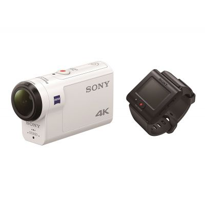 Sony FDR-X3000R Videocamera + Telecomando 4K Action Cam Wi-Fi GPS [MENU ENG]