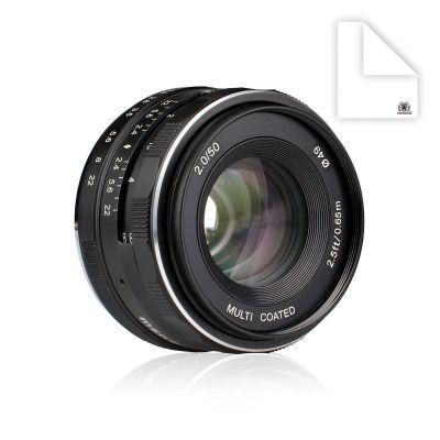 Obiettivo Meike MK-50mm F2 per Micro Quattro Terzi