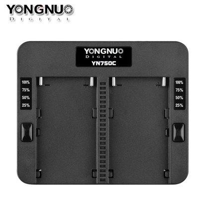Yongnuo YN750C caricatore rapido doppio batteria Sony NP-F970 NP-F960 NP-F570 NP-F770 NP-F975 YN-750C