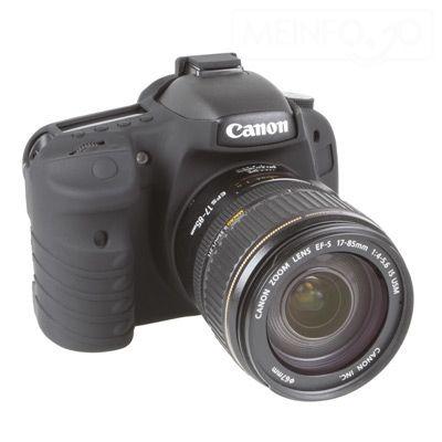 EasyCover protezione custodia in silicone morbido per Canon 7D Nero