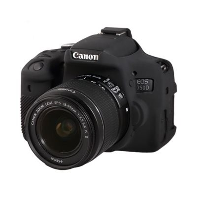 Custodia protettiva EasyCover camera case morbido in silicone per Canon 750D Nero
