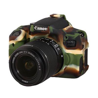 Camera case in silicone EasyCover custodia protettiva morbida per Canon 750D Camouflage