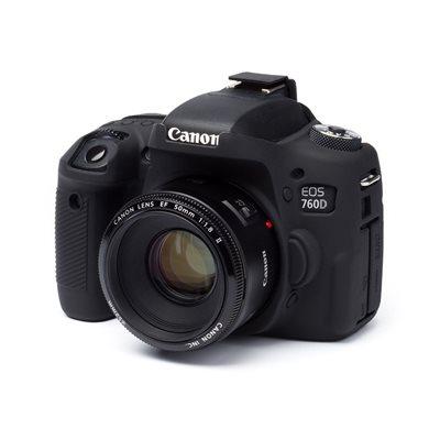 EasyCover custodia protezione in silicone morbido camera case per Canon 760D Nero