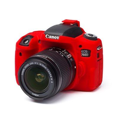 Protezione in silicone morbido EasyCover custodia camera case per Canon 760D Rosso