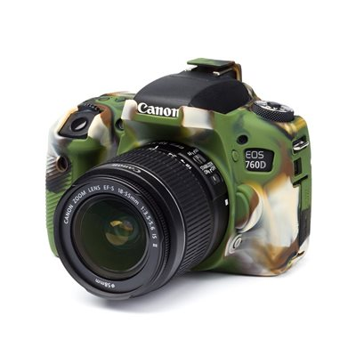 Custodia morbida in silicone EasyCover soft camera case per Canon 760D Camouflage
