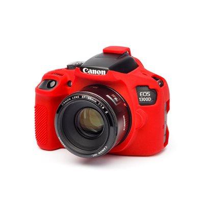 Custodia morbida in silicone EasyCover camera case per Canon 1300D Rosso
