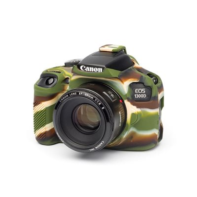 Custodia in silicone morbido EasyCover soft camera case per Canon 1300D Camouflage