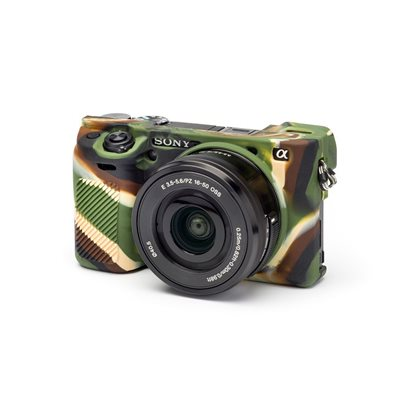 Camera case in silicone morbido EasyCover custodia per Sony A6000 A6300 Camouflage