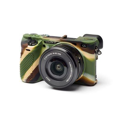 EasyCover custodia soft camera case in silicone morbido per Sony A6500 Camouflage