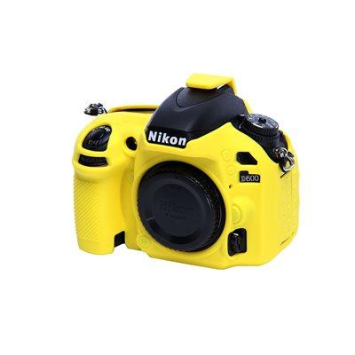 Custodia soft protezione EasyCover camera case in silicone morbido per Nikon D600 D610 Giallo