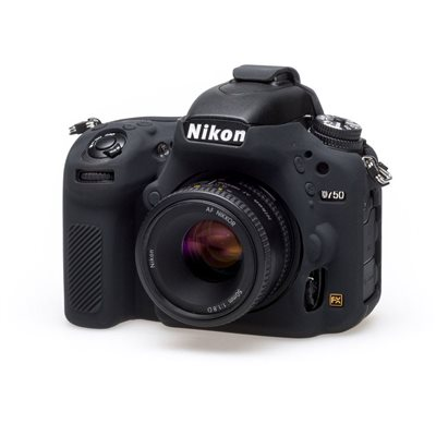 Custodia soft protettiva EasyCover camera case in silicone morbido per Nikon D750 Nero