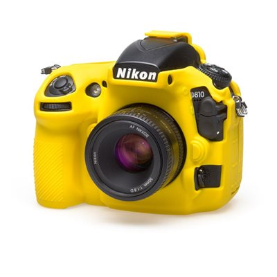 Soft camera case EasyCover custodia morbida in silicone protezione per Nikon D810 Giallo