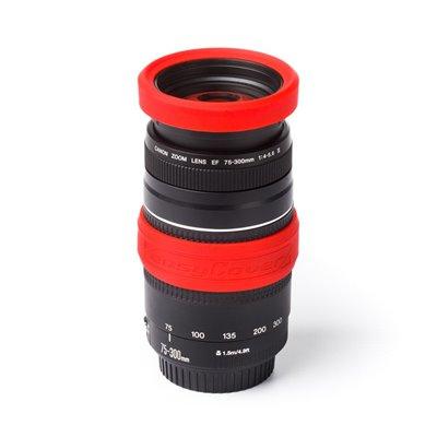 Lens rim protettivo in silicone EasyCover anello paraurti per obiettivo 77mm rosso