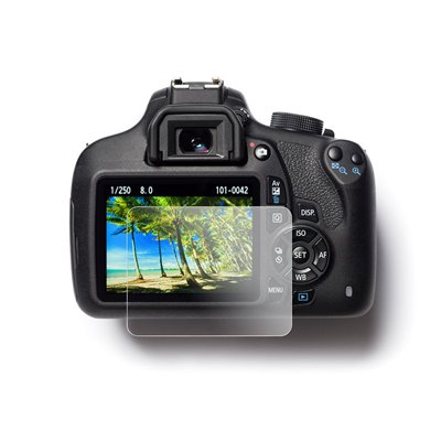 Protezione schermo in vetro temperato EasyCover tempered glass screen protector per Canon 1300D