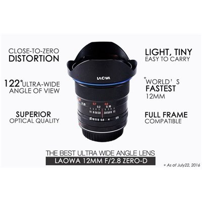 Laowa Venus Optics obiettivo 12mm f/2,8 Canon Zero Distortion lens