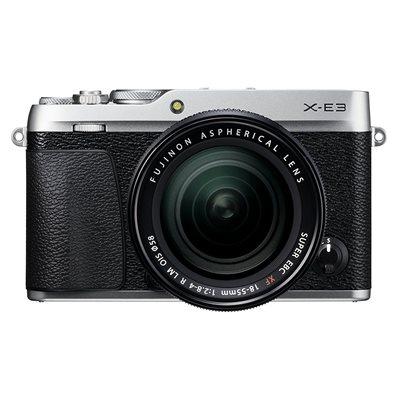 Fotocamera Fuji Fujifilm X-E3 Kit 18-55mm f2.8-4 Argento Silver XE-3 XE3