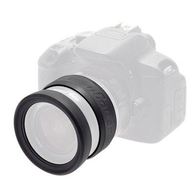 EasyCover anello paraurti per obiettivo in silicone lens rim protettivo 52mm nero