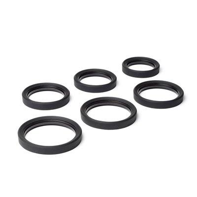 Anello paraurti in silicone EasyCover lens rim protettivo per obiettivo 77mm nero