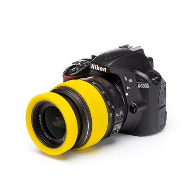 EasyCover lens rim in silicone per obiettivo anello paraurti protettivo 67mm giallo