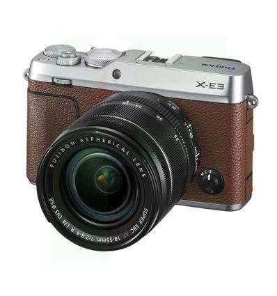 Fotocamera Fuji Fujifilm X-E3 kit 18-55mm f2.8-4 R LM OIS marrone