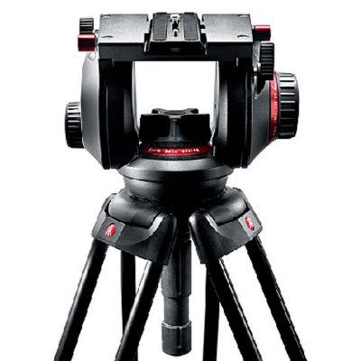 Manfrotto Video Testa video con semisfera da 100mm, 1 leva telescopica 509HD