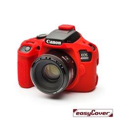 EasyCover custodia protettiva in silicone camera case per Canon 4000D rosso