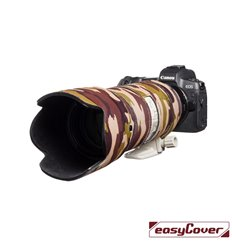 Easycover custodia in neoprene marrone camo per obiettivo Canon EF 70-200mm f/2.8L IS II USM Lens Oak