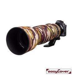 Easycover custodia in neoprene marrone camo per obiettivo Nikon 200-500mm f/5.6 VR Lens Oak