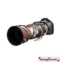Easycover custodia in neoprene verde camo per obiettivo Canon 100-400mm F4.5-5.6L IS II USM V2 Lens Oak