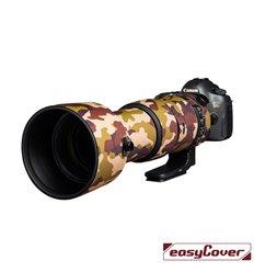 Easycover custodia in neoprene marrone camo per obiettivo Sigma 60-600mm F4.5-6.3 DG OS HSM Sport Lens Oak