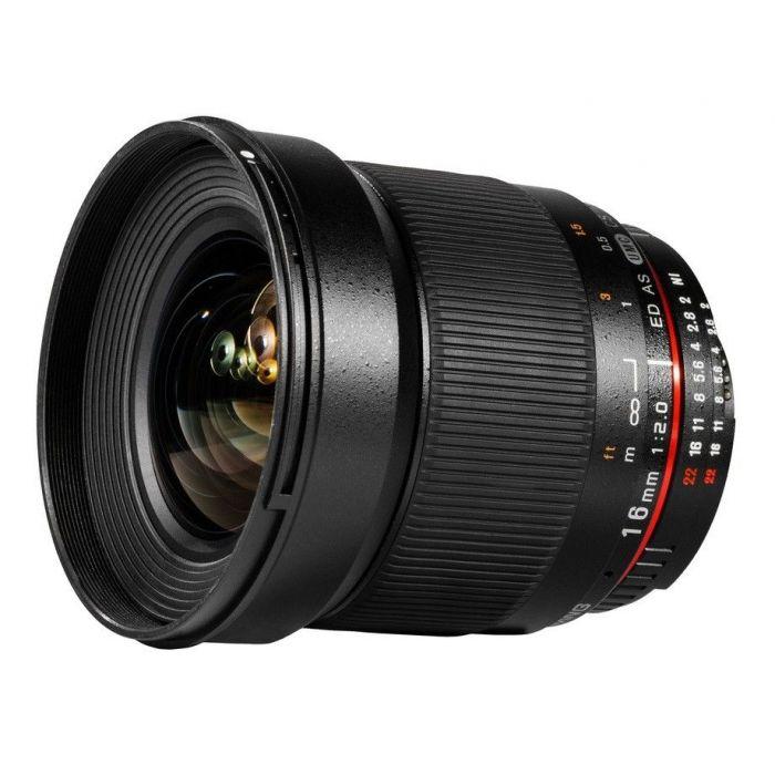 Obiettivo Samyang 16mm f/2.0 ED AS UMC CS per Nikon