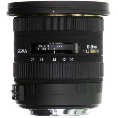 Obiettivo Sigma DC 10-20mm F3.5 EX HSM x Canon 10-20 mm F 3.5