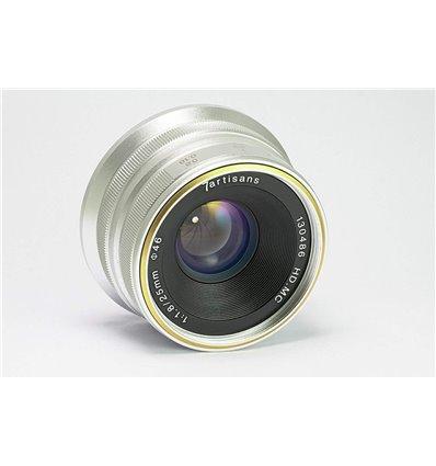 Obiettivo grandangolare 7Artisans 25mm F1.8 (Sony E) Silver (A101S)