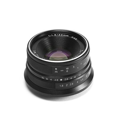 Obiettivo 7Artisans 25mm F1.8 per fotocamera Canon M, Black (A102B)