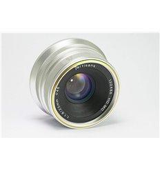 Obiettivo grandangolare 7Artisans 25mm F1.8 per fotocamere Canon M, Silver (A102S)