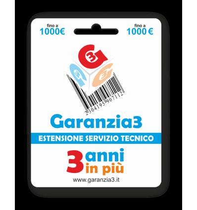 GARANZIA3 - Estensione di garanzia 3 anni in più con massimale di copertura a 1000 euro