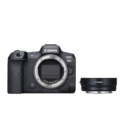Fotocamera Mirrorless Canon EOS R5 Body + adattatore EF-EOS R