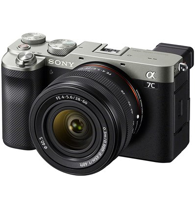 Fotocamera Mirrorless Full Frame Sony a7C kit 28-60mm Silver [MENU ENG] ILCE-7CL