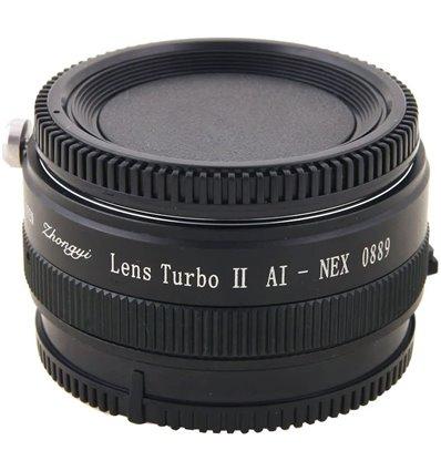 Zhongyi Mitakon Turbo adattatore II da obiettivo Nikon a mirrorless Sony