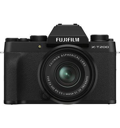Fotocamera Mirrorless Fujifilm X-T200 Kit 15-45mm Nero PRONTA CONSEGNA