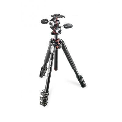 Manfrotto Foto Kit serie 190 a 4 sezioni alluminio con testa a 3 vie MK190XPRO4-3W