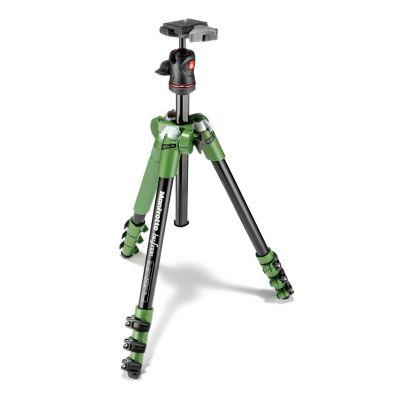 Manfrotto Foto Kit Traveller con testa a sfera, 4 sezioni alluminio verde MKBFRA4G-BH